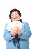 8042071-happy-elderly-woman-holding-euro-banknotes-isolated-on-white-background